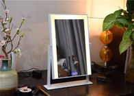 Desk Professional Portable Led Makeup Mirror Yellow / White Light
