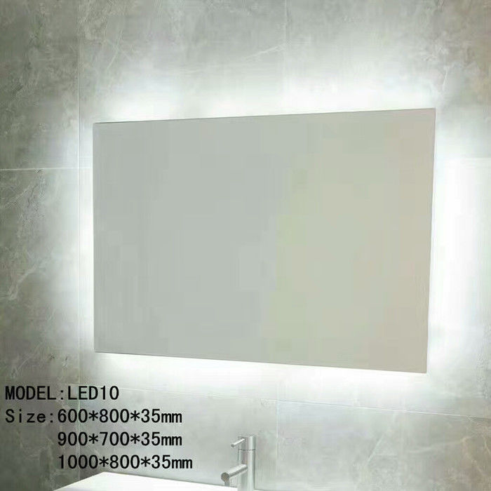 Touch Switch Hotel Bathroom Mirror With Radio / Bluetooth Led Wall Mirror